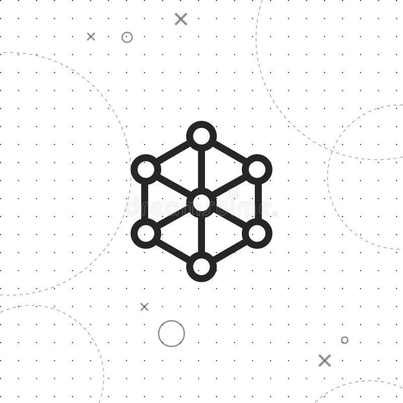 Ícone do vetor da rede ilustração do vetor