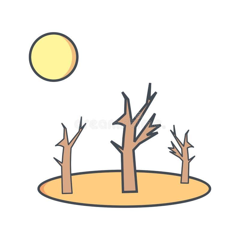Ícone do vetor da seca ilustração royalty free