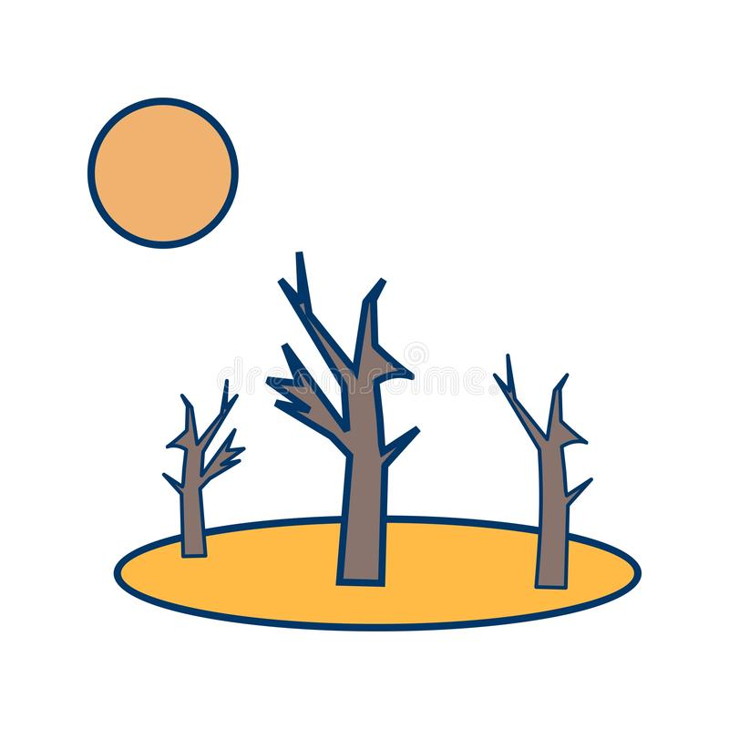 Ícone do vetor da seca ilustração do vetor