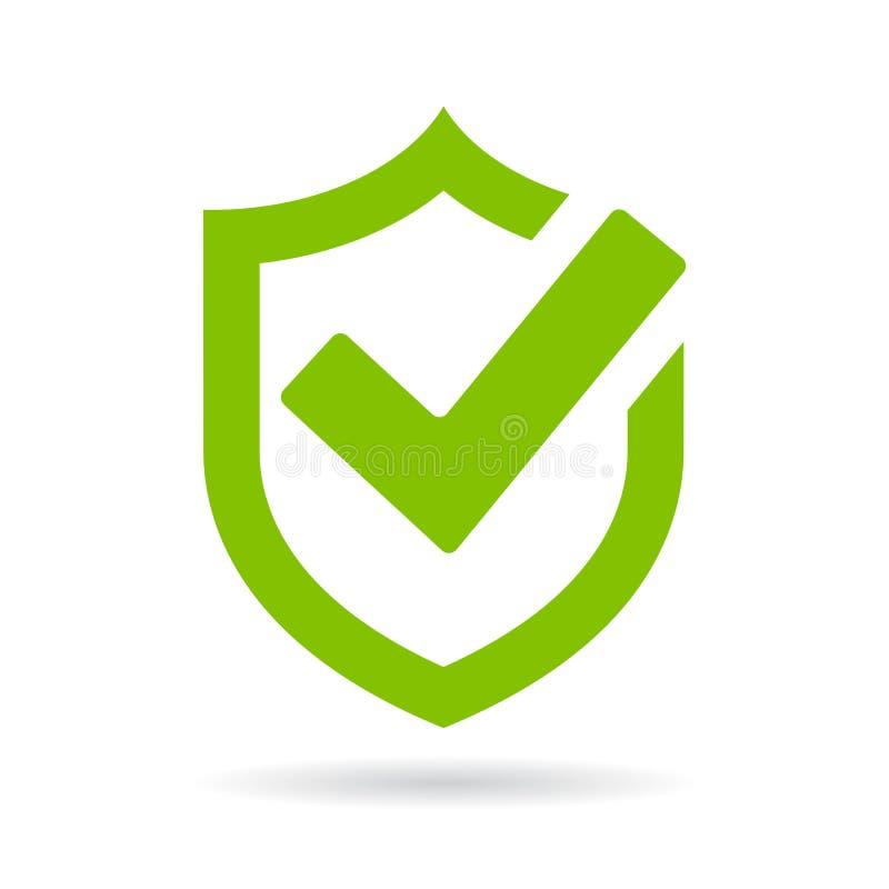 Ícone do vetor da segurança do protetor do tiquetaque ilustração do vetor