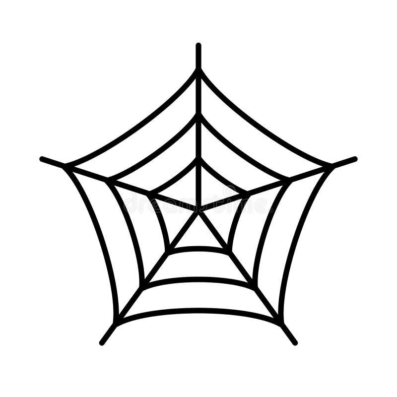 Ícone do vetor da silhueta da Web de aranha ilustração royalty free