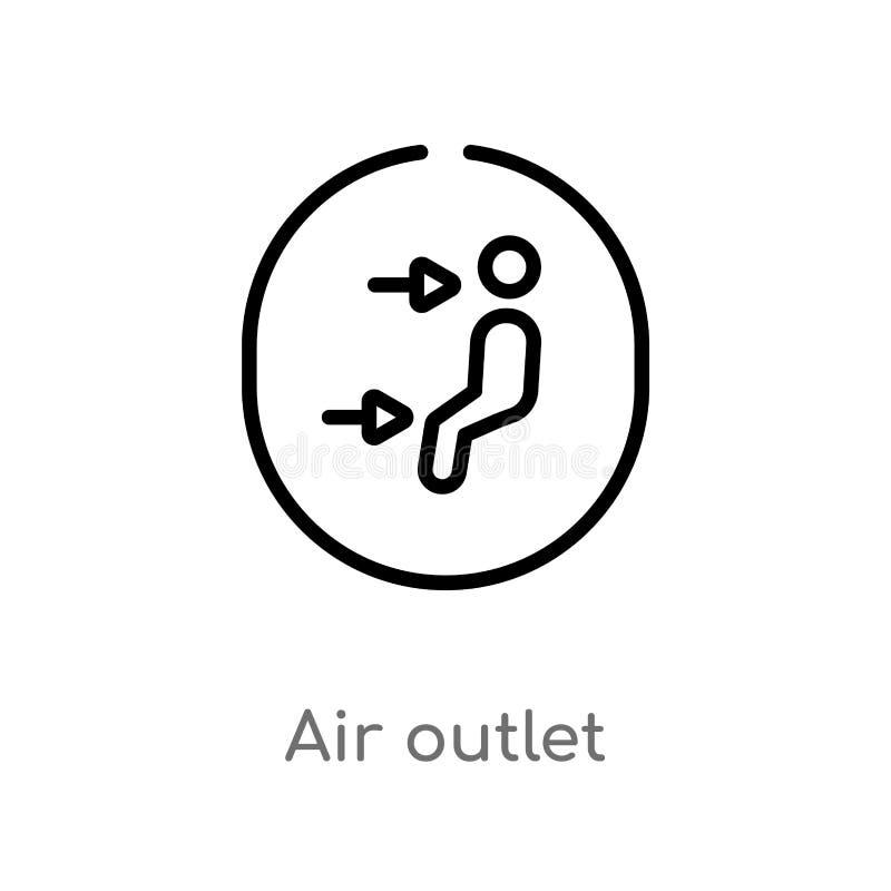 ícone do vetor da tomada de ar do esboço linha simples preta isolada ilustra??o do elemento do conceito da interface de usu?rio V ilustração stock