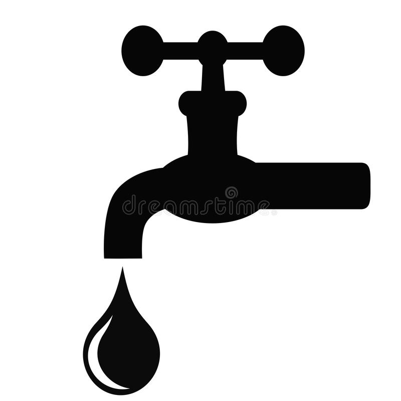 Ícone do vetor da torneira de água ilustração do vetor