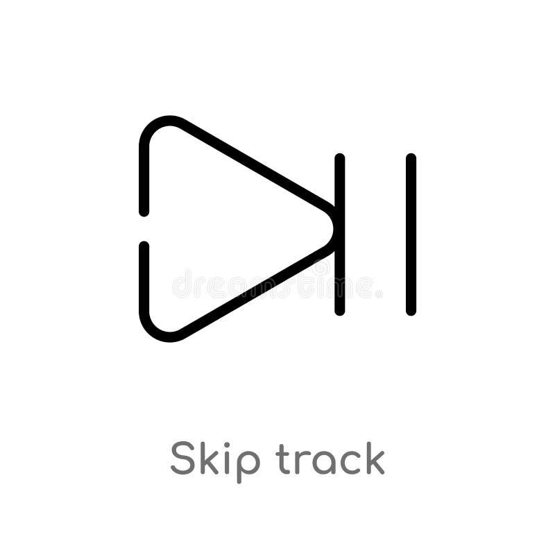 ícone do vetor da trilha da faixa clara do esboço linha simples preta isolada ilustra??o do elemento do conceito das setas faixa  ilustração stock