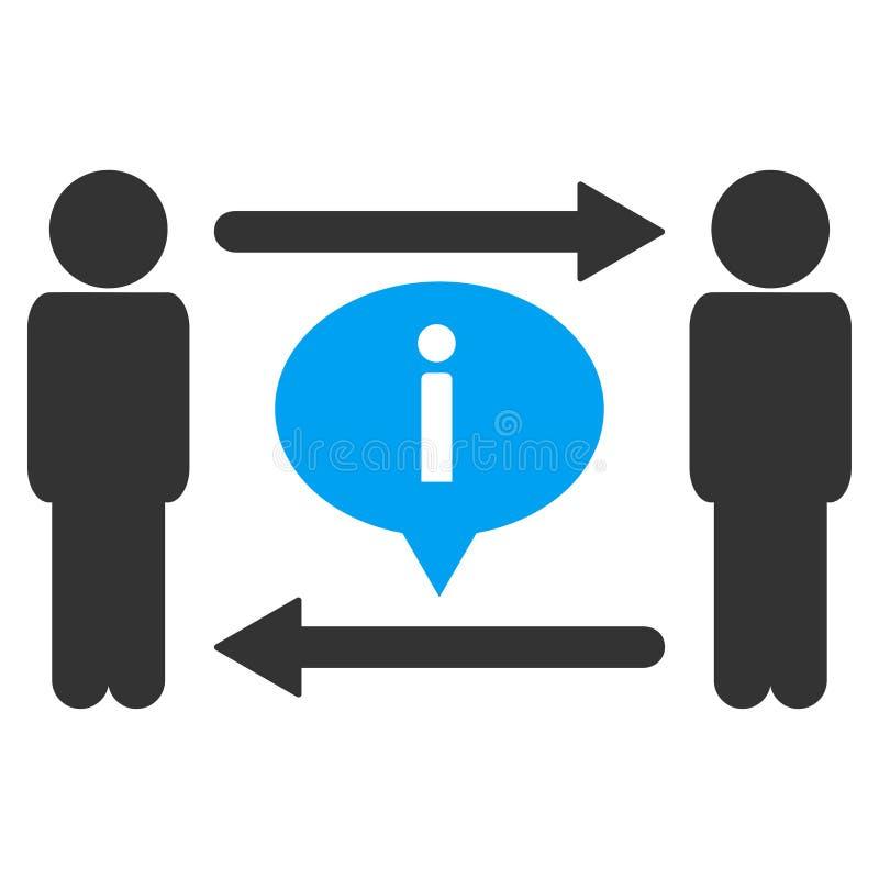 Ícone do vetor da troca de informação dos homens ilustração stock