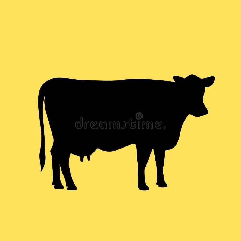 Ícone do vetor da vaca ilustração do vetor