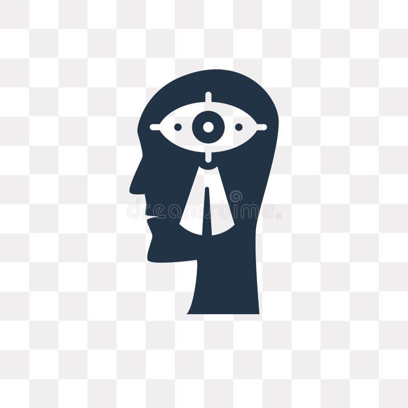 Ícone do vetor da visão isolado no fundo transparente, visão t ilustração do vetor