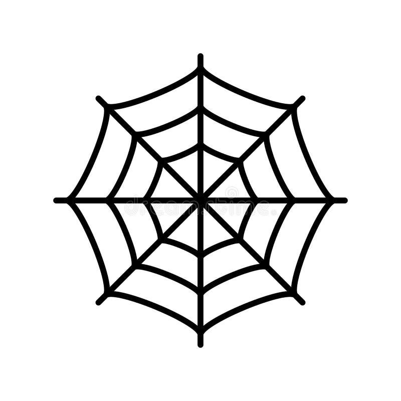Ícone do vetor da Web de aranha ilustração royalty free