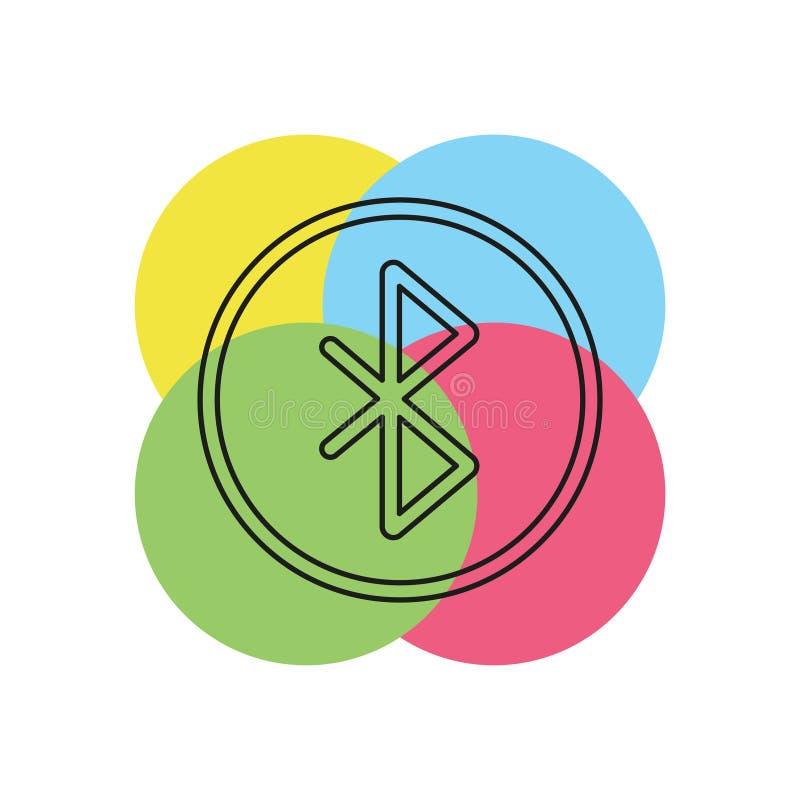Ícone do vetor de Bluetooth ilustração do vetor
