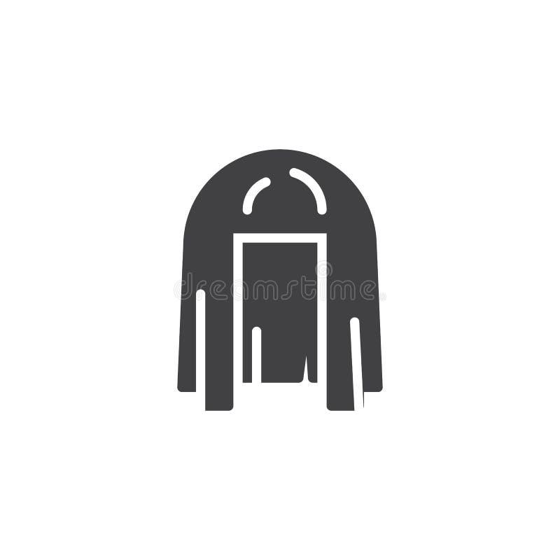 Ícone do vetor de Cleopatra Wig ilustração do vetor