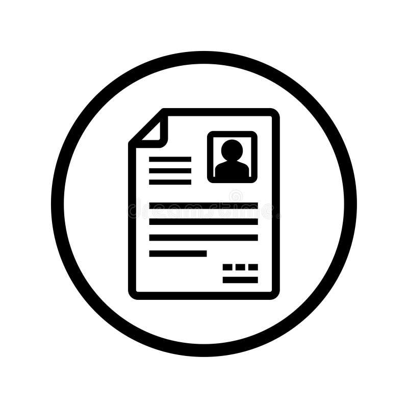 Ícone do vetor de CV/Resume ilustração do vetor