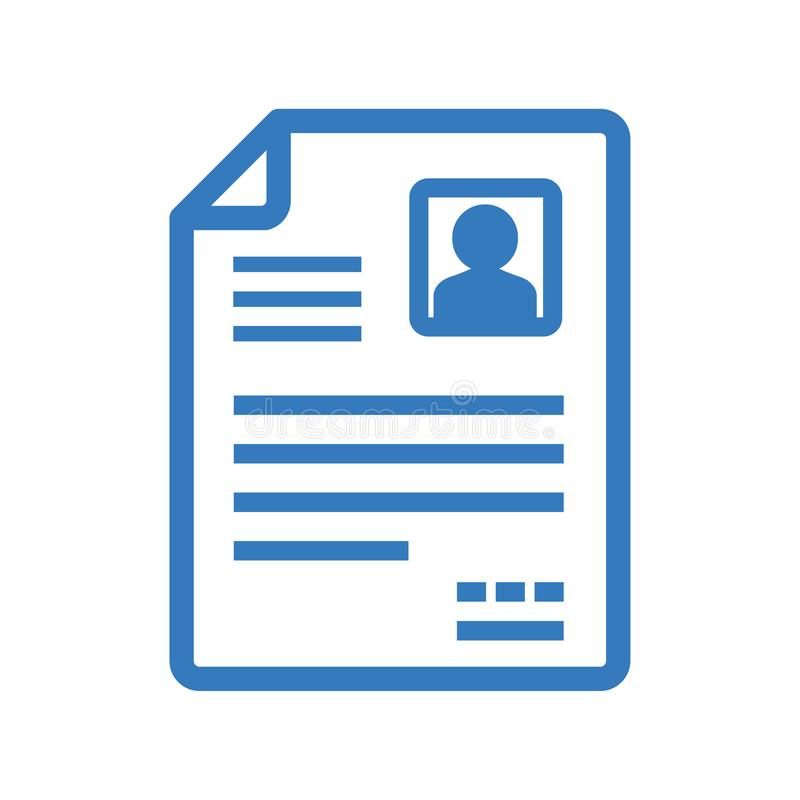 Ícone do vetor de CV/Resume ilustração stock