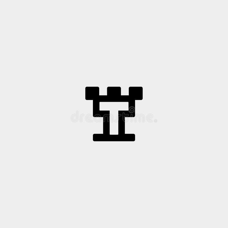 Ícone do vetor de design de logotipo Carta T ilustração do vetor