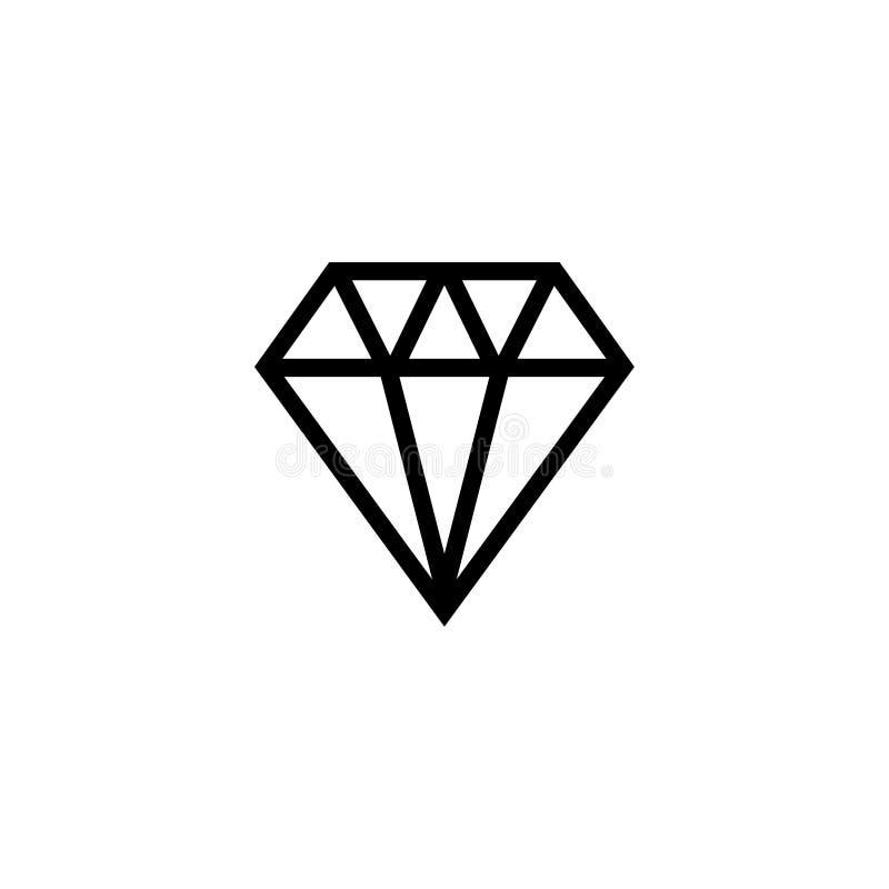 Ícone do vetor de Diamond Jewelry Gem Stone Flat ilustração do vetor