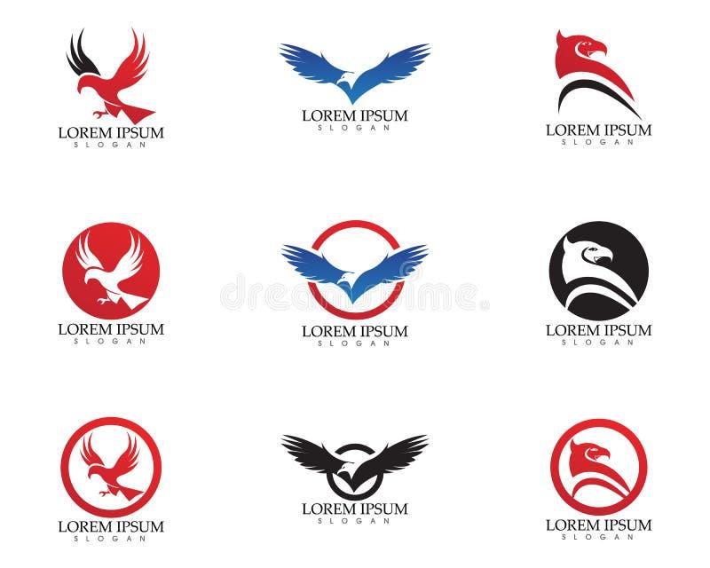 Ícone do vetor de Eagle Bird Logo Template do falcão ilustração stock