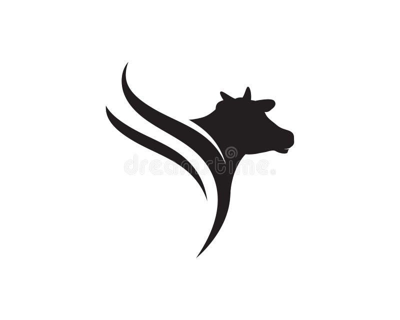 Ícone do vetor de Logo Template da vaca ilustração do vetor