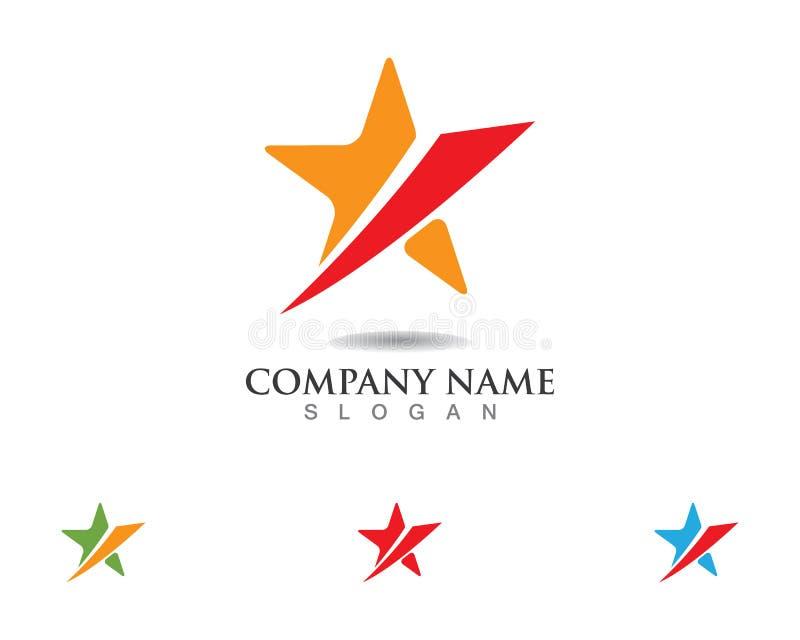 Ícone do vetor de Logo Template do falcão da estrela vermelha e azul ilustração do vetor