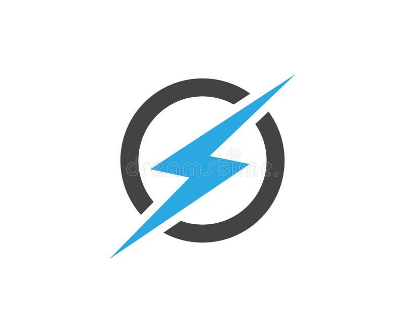 Ícone do vetor de Logo Template do relâmpago ilustração stock