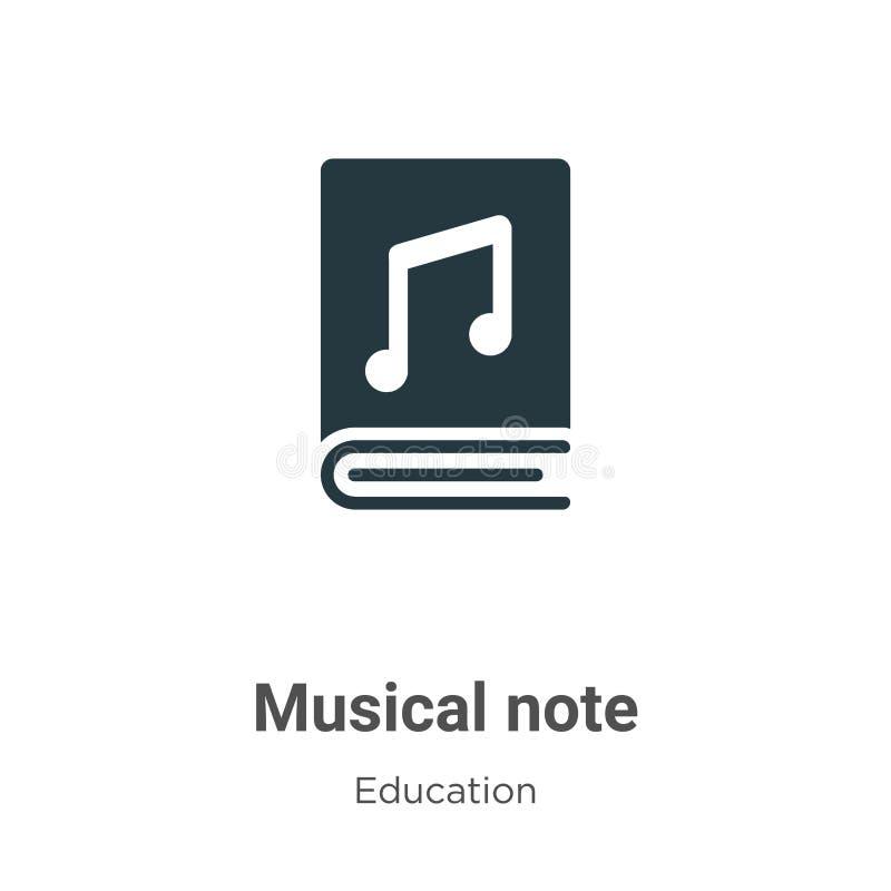 Ícone do vetor de nota musical em fundo branco Símbolo de ícone de nota musical de vetor plano da coleção de educação moderna par ilustração do vetor