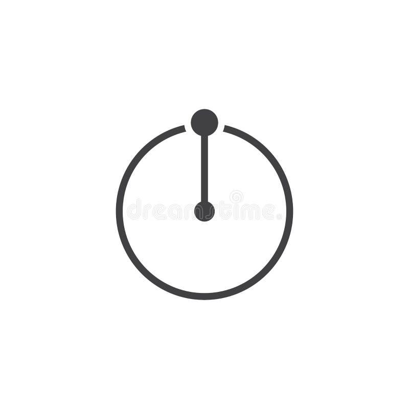 Ícone do vetor de raio do círculo ilustração do vetor