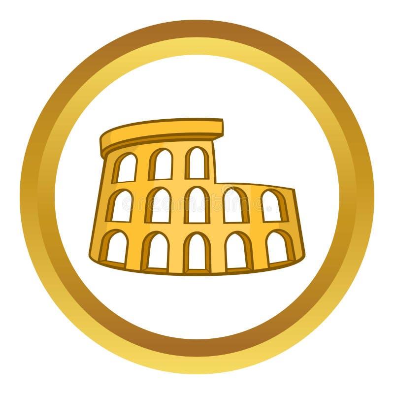 Ícone do vetor de Roman Coliseum ilustração royalty free