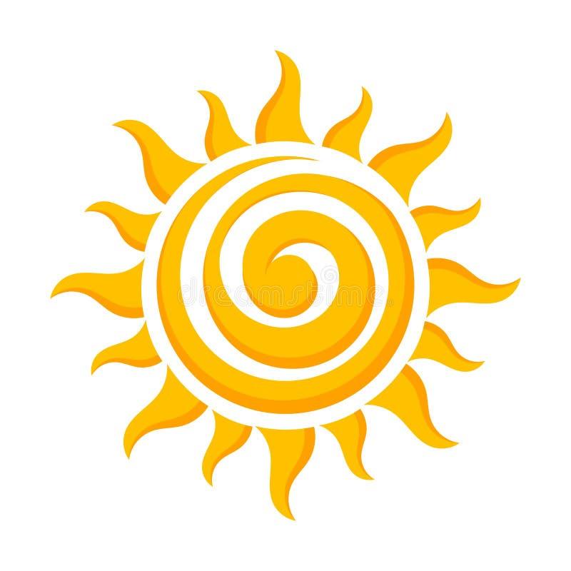 Ícone do vetor de Sun ilustração stock