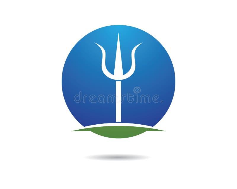 Ícone do vetor de Trident Logo Template ilustração royalty free