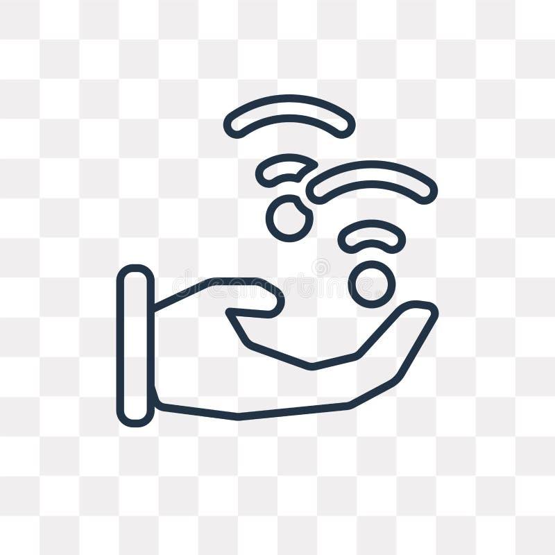 Ícone do vetor de Wifi isolado no fundo transparente, Wifi linear ilustração do vetor