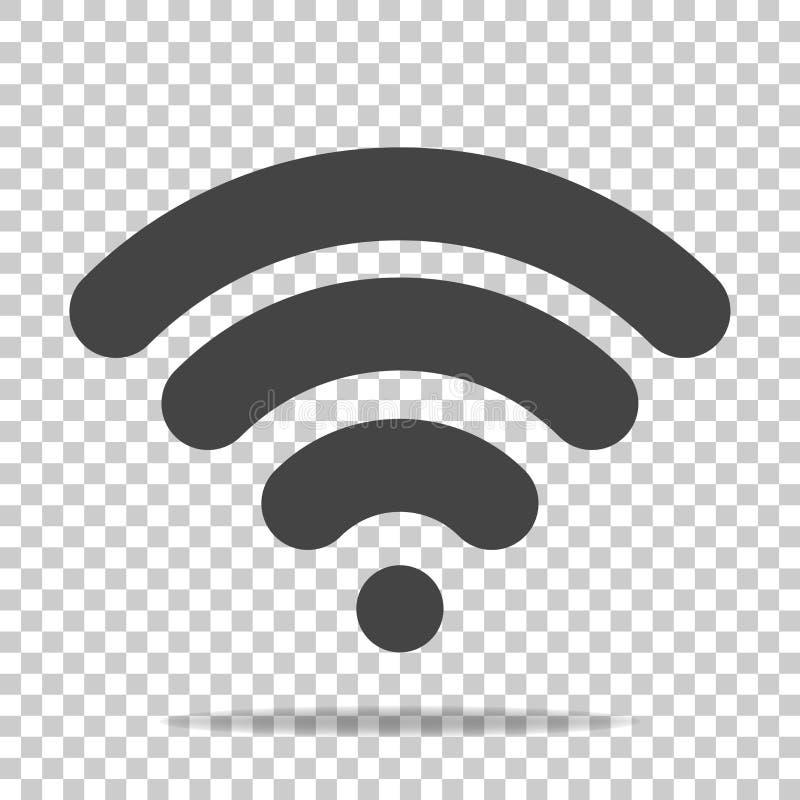 Ícone do vetor de WiFi no fundo transparente Illustra do logotipo de Wi-Fi ilustração do vetor
