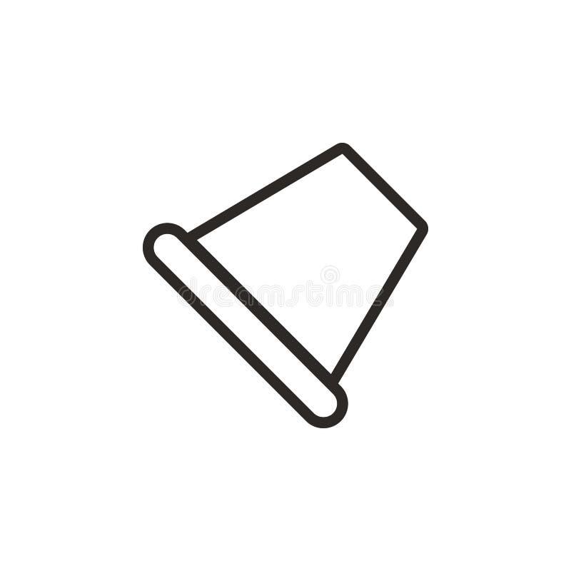 Ícone do vetor do dedal Elemento da ferramenta de projeto para o conceito e o vetor m?veis dos apps da Web Linha fina ?cone para  ilustração royalty free