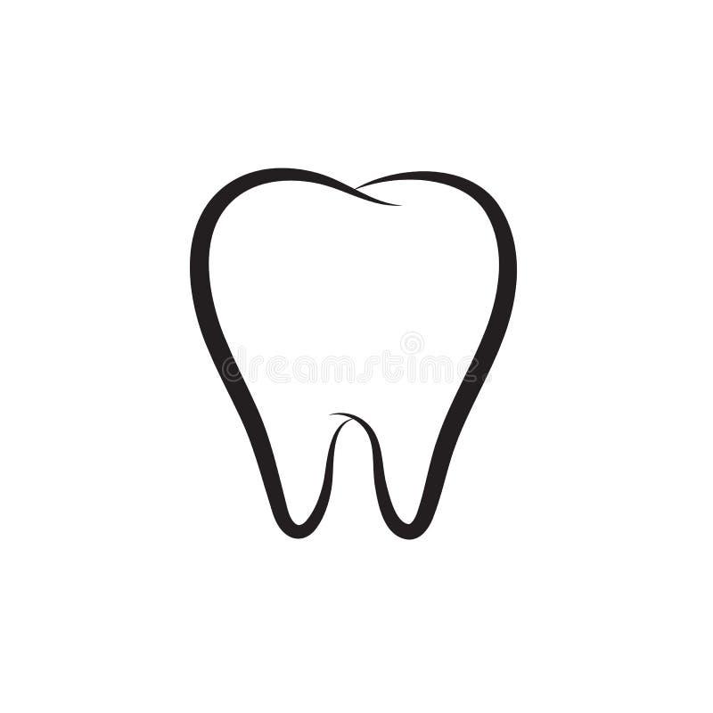 Ícone do vetor do dente ilustração do vetor