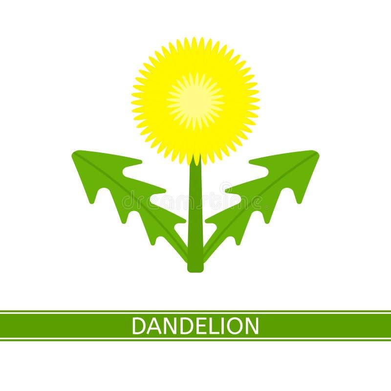 Ícone do vetor do dente-de-leão ilustração stock