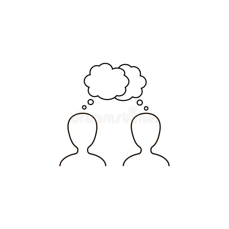 ícone do vetor do diálogo, diálogo, conversação ilustração stock