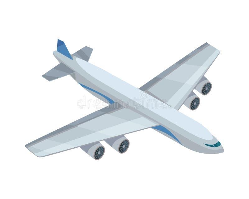 Ícone do vetor do avião na projeção isométrica ilustração do vetor
