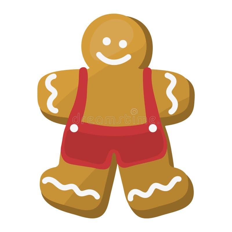 Ícone do vetor do bolo da cookie do Natal ilustração royalty free