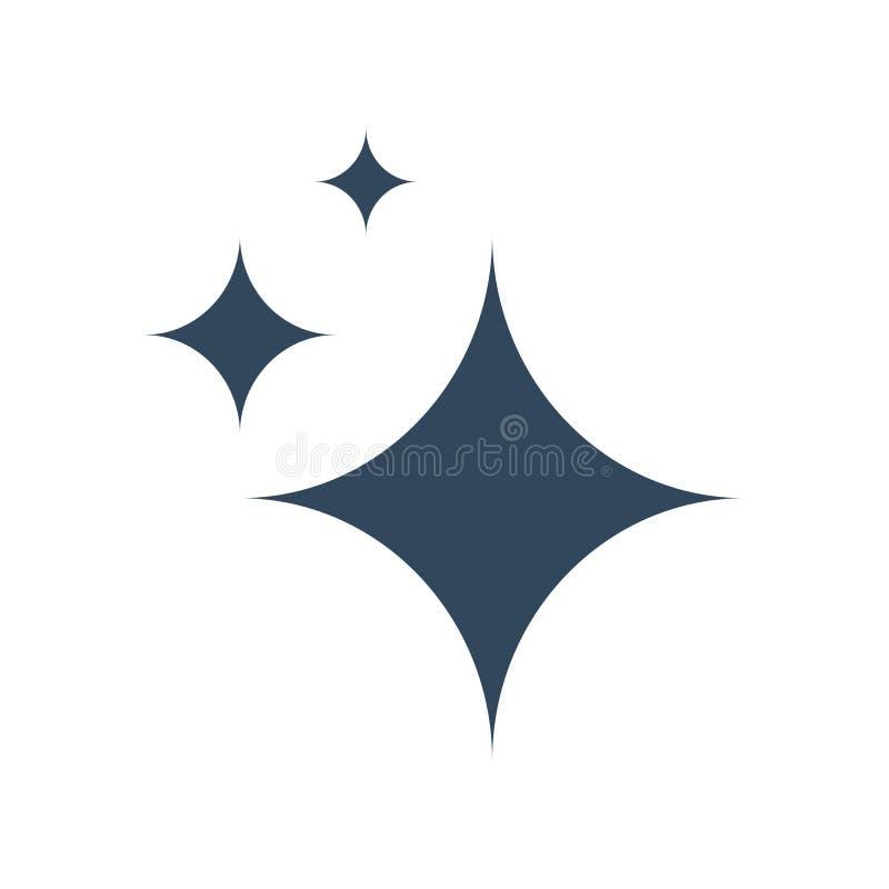 Ícone do vetor do brilho ilustração royalty free