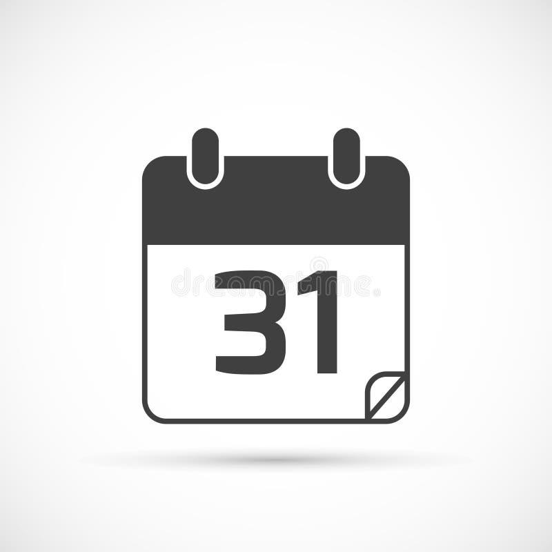Ícone do vetor do calendário ilustração do vetor