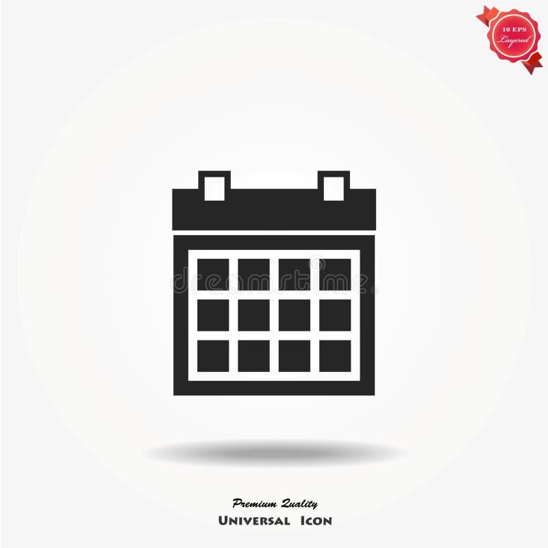 Ícone do vetor do calendário ilustração royalty free