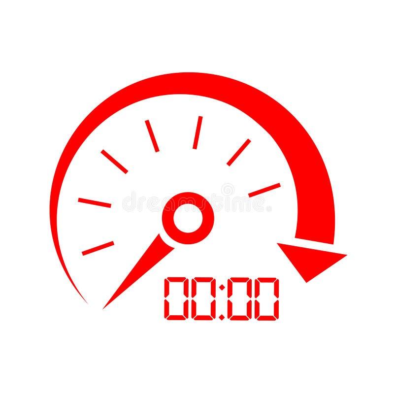 Ícone do vetor do indicador de velocidade ilustração royalty free