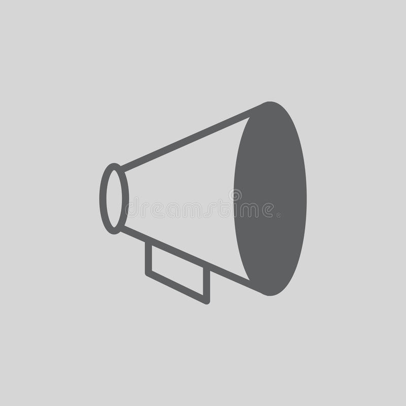 Ícone do vetor do megafone ilustração do vetor