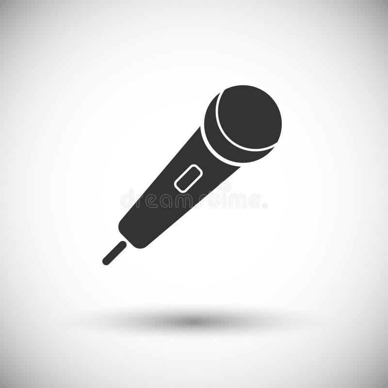 Ícone do vetor do microfone ilustração do vetor