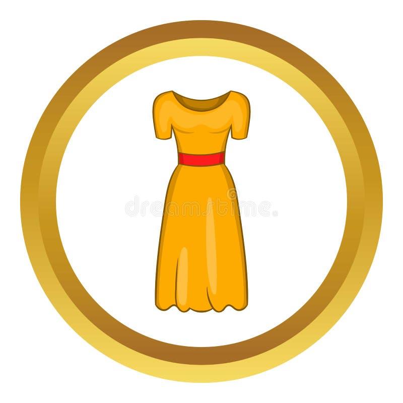 Ícone do vetor do vestido de fantasia das mulheres ilustração royalty free