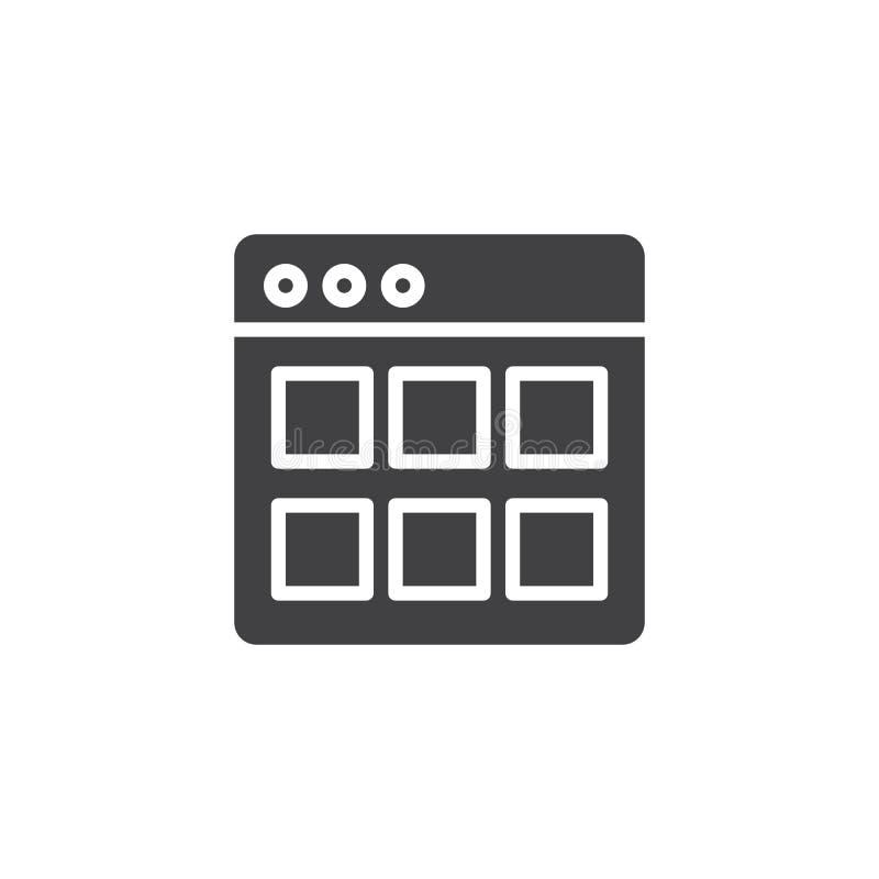 Ícone do vetor dos módulos do Web site ilustração stock