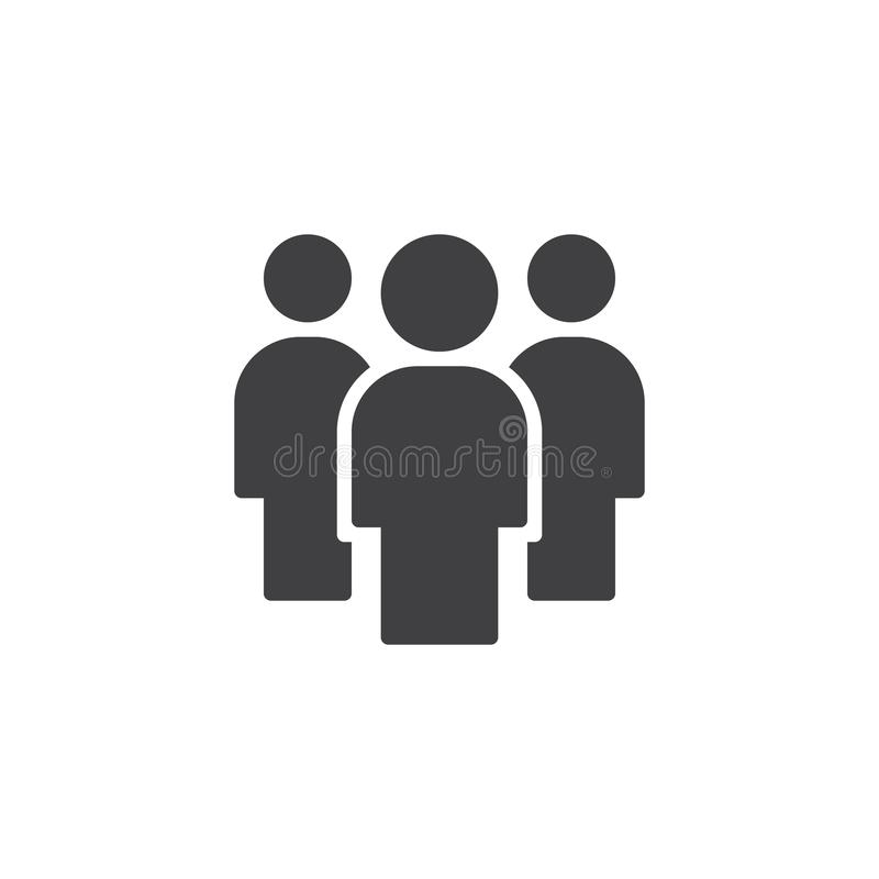 Ícone do vetor dos povos dos trabalhos de equipe ilustração stock