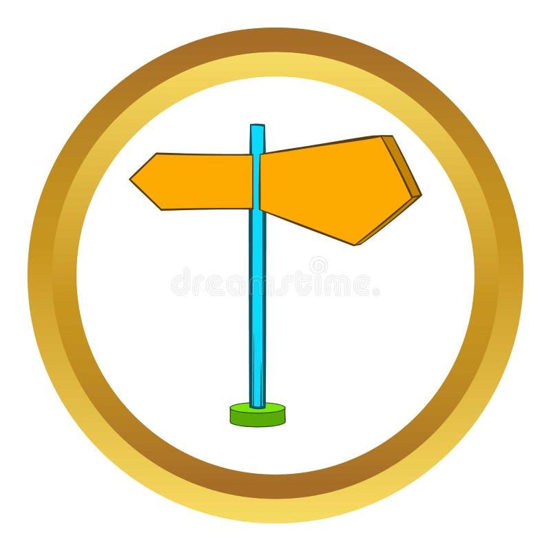 Ícone do vetor dos sinais de sentido, estilo dos desenhos animados ilustração do vetor