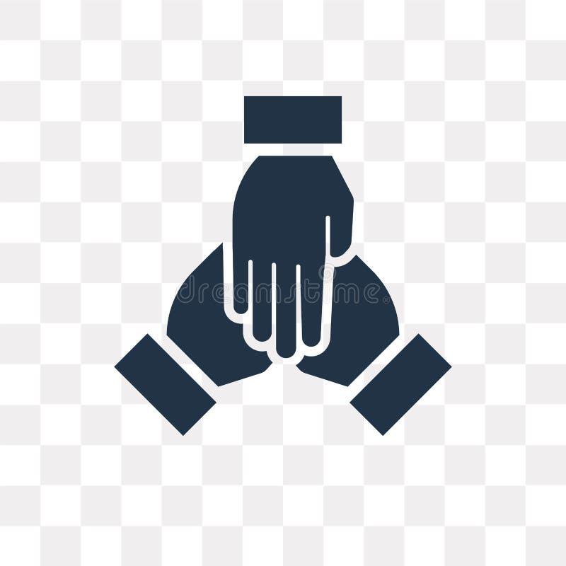Ícone do vetor dos trabalhos de equipa isolado no fundo transparente, Teamwor ilustração royalty free