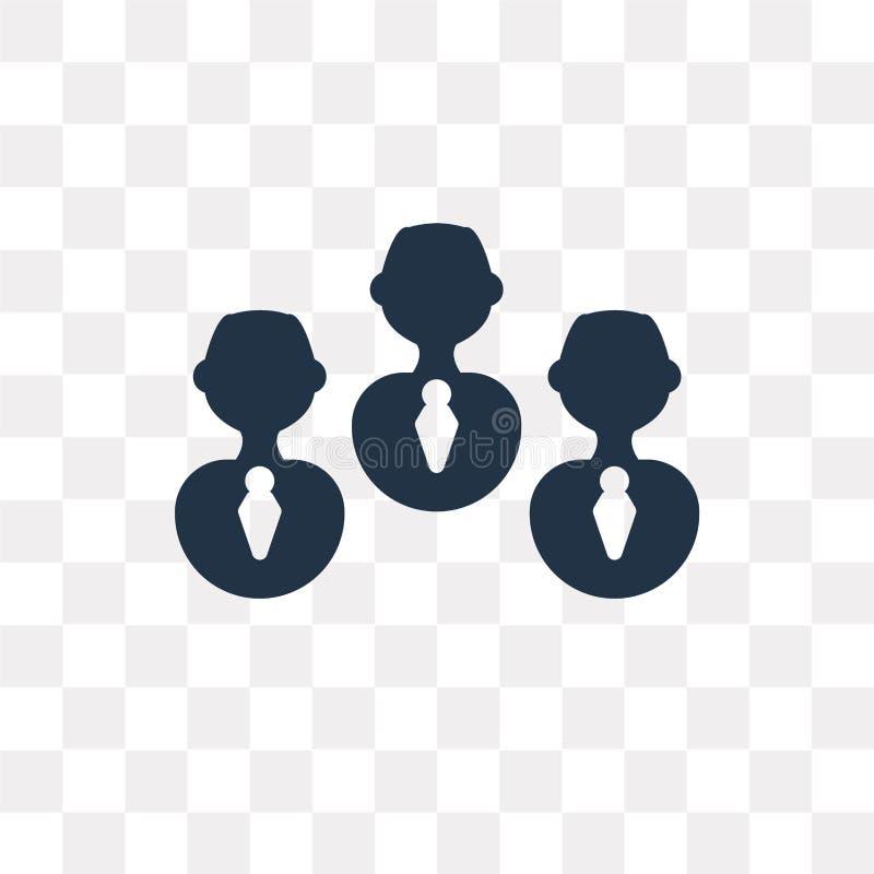 Ícone do vetor dos trabalhos de equipa isolado no fundo transparente, Teamwor ilustração do vetor