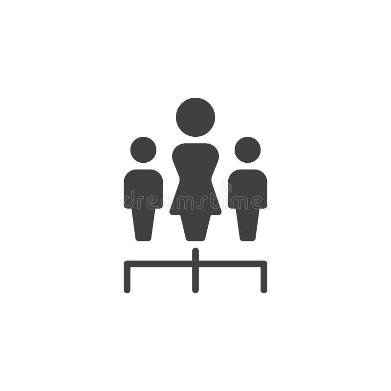 Ícone do vetor dos trabalhos de equipe do grupo ilustração do vetor
