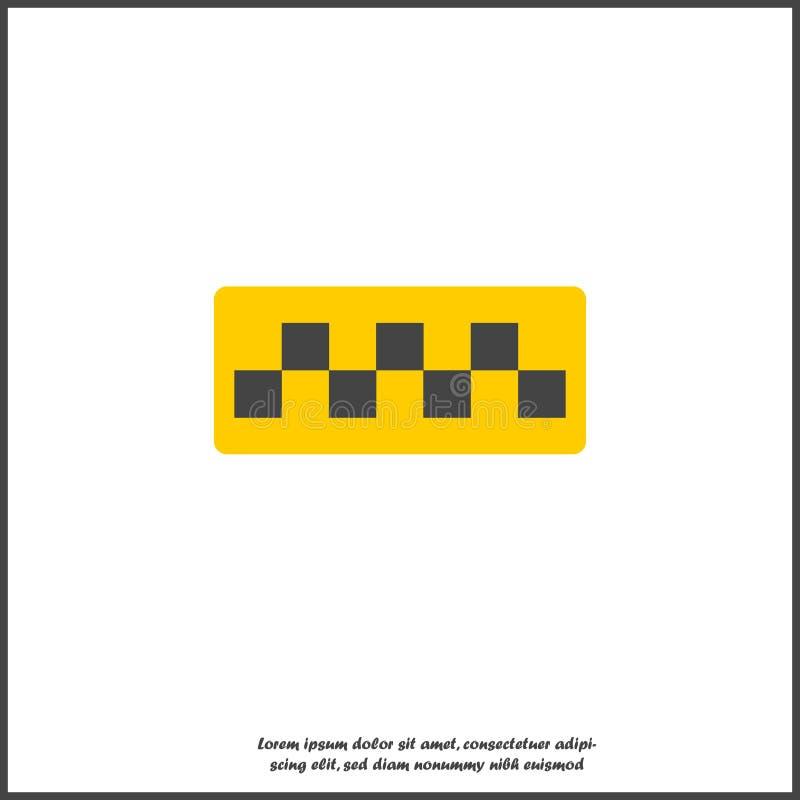 Ícone do vetor dos verificadores do táxi no fundo isolado branco ilustração do vetor