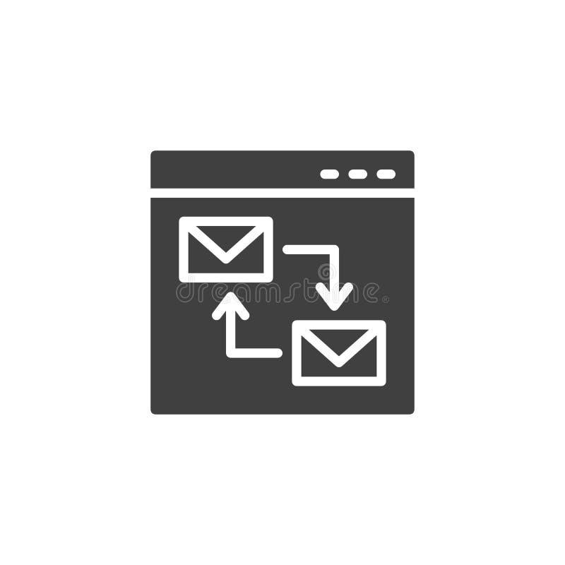 Ícone do vetor do enviamento do Web site ilustração royalty free